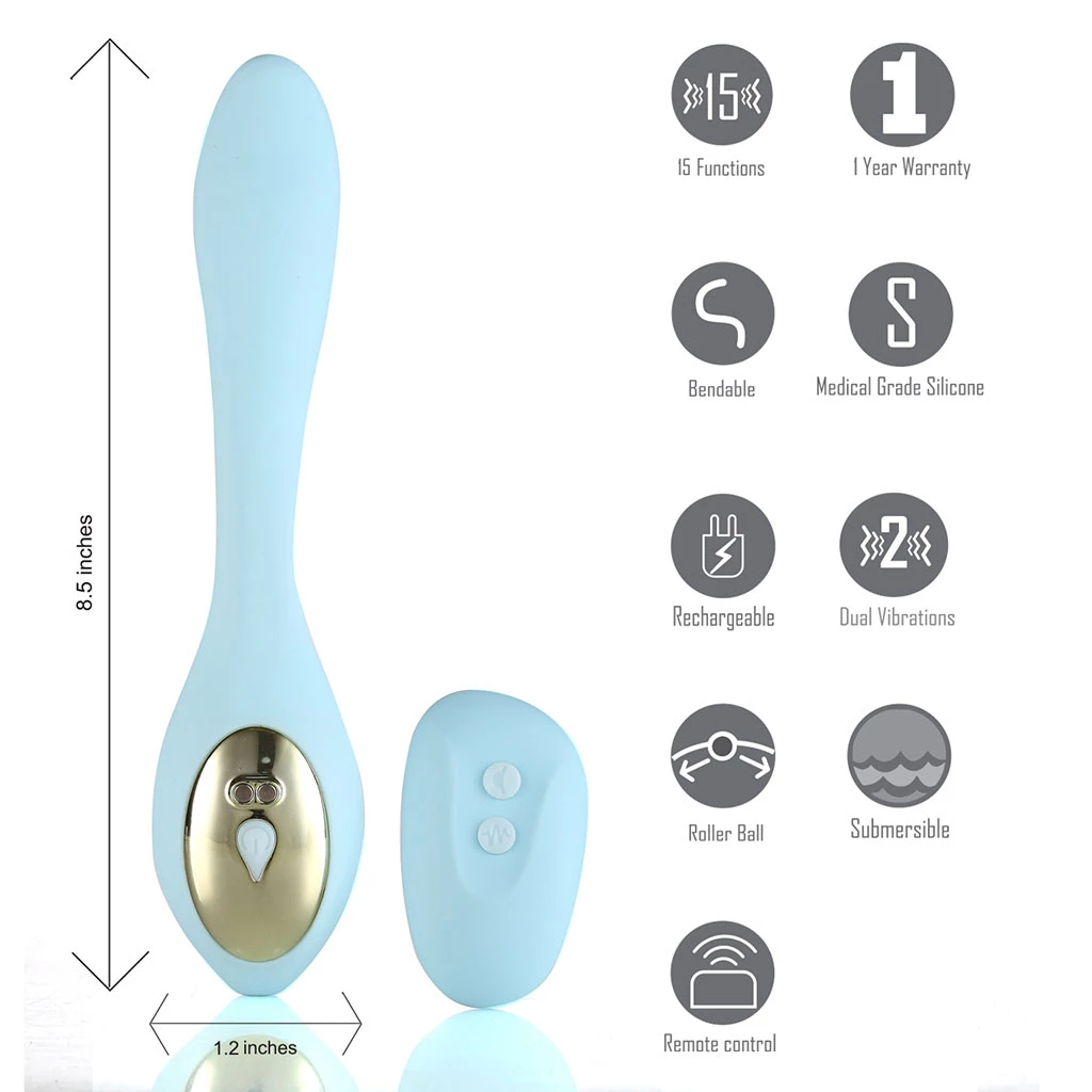 Maia Harmonie 15-Function USB Rechargeable Remote Control Bendable Couples Vibrator