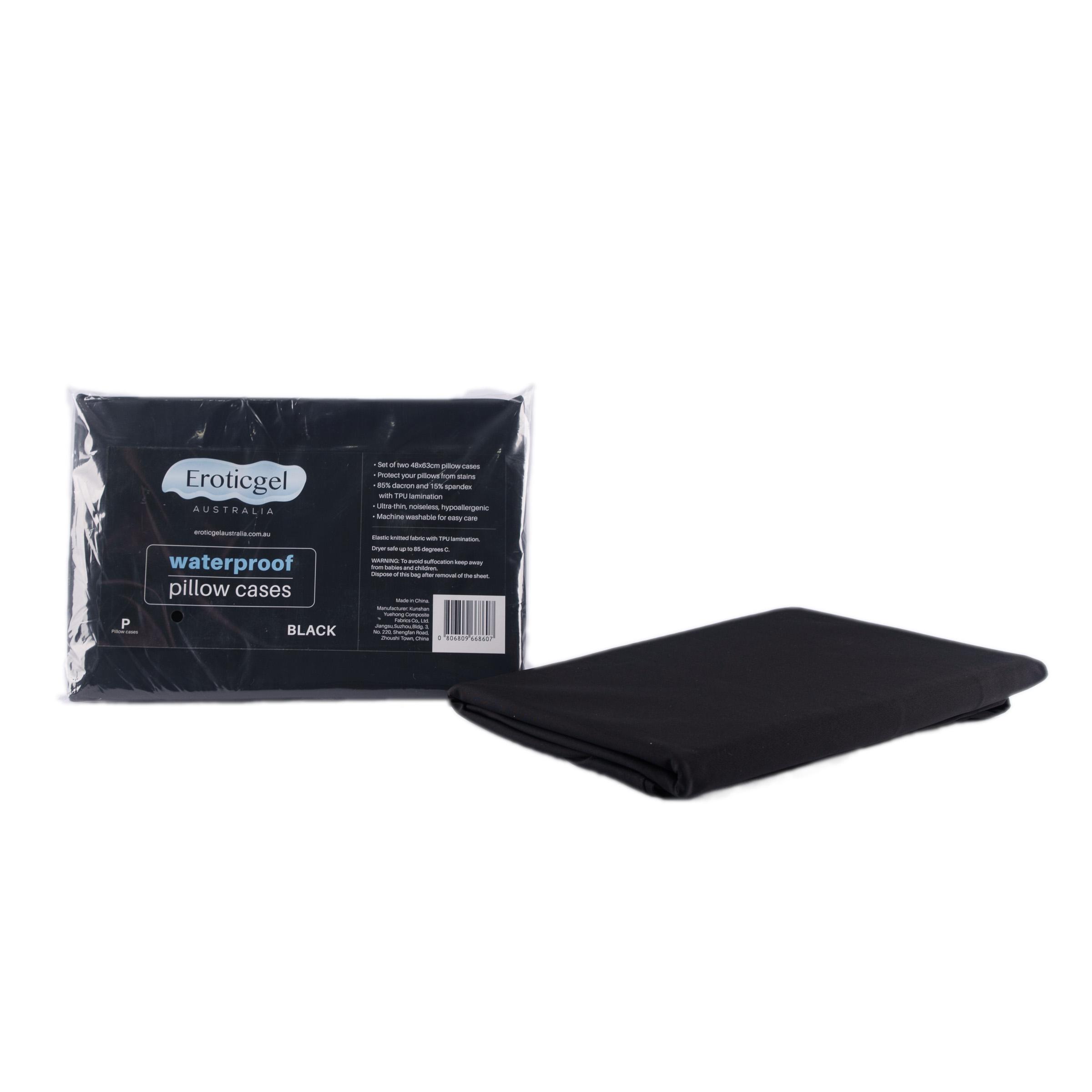 Eroticgel Australia Black Waterproof Fitted Sheet Pillow Case