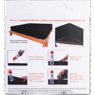 Eroticgel Australia Black Waterproof Fitted Sheet