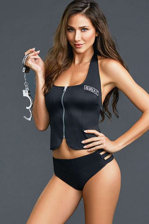 Dreamgirl Tactical Response 3 Pce Sexy SWAT Police Costume One Size