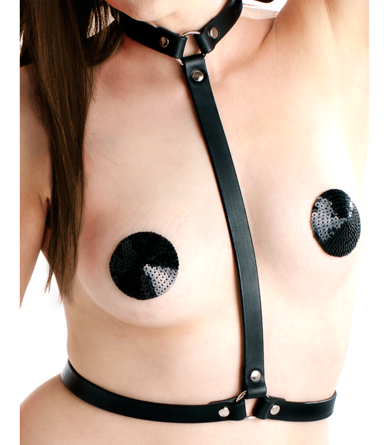 Love In leather Leather Collar to Waist Brace