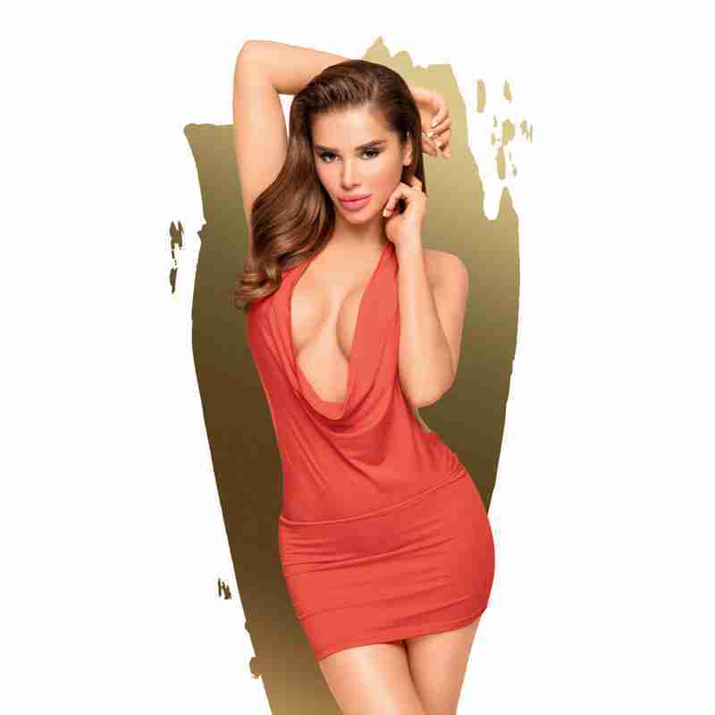 PENTHOUSE HEART ROB MINI DRESS RED FV